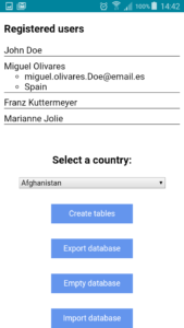 App with data